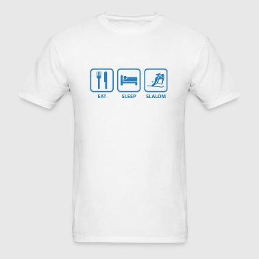 Eat Sleep Slalom - Men's T-Shirt
