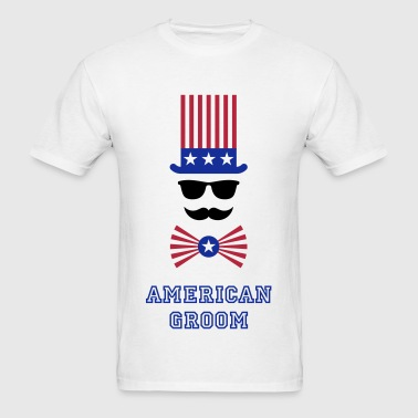 American Groom (Stag Party) - Men's T-Shirt