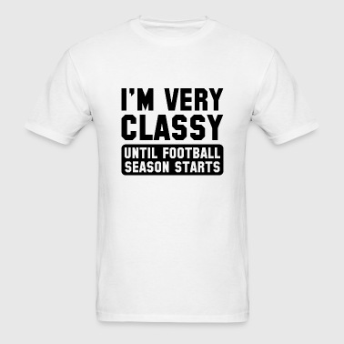 Football Season Classy - Men's T-Shirt