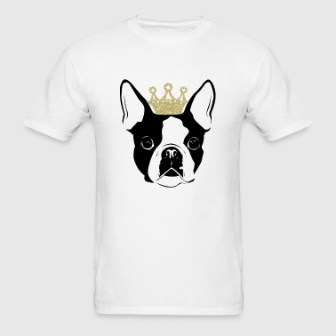 Boston terrier - Boston Terrier with Crown - Men's T-Shirt
