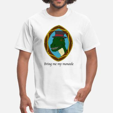 Monocle Sophisticated T-Rex - Men's T-Shirt