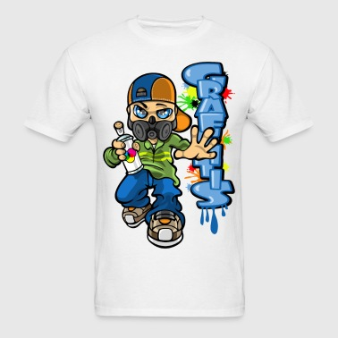 B-boy graffitis - Men's T-Shirt