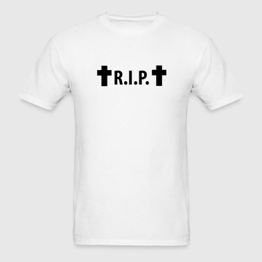 R.I.P. - Rip - Rest in peace - Cross - Men's T-Shirt