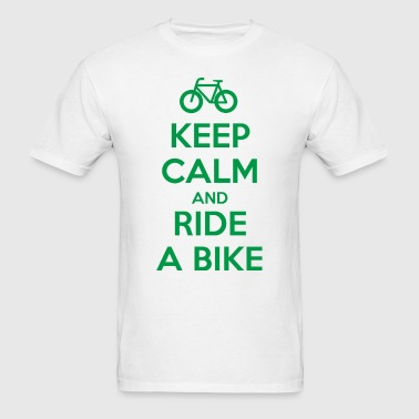 Keep Calm and Ride a Bike - Men's T-Shirt