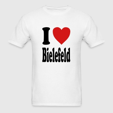 I love Bielefeld (variable colors!) - Men's T-Shirt