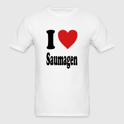 I love Saumagen (variable colors!) - Men's T-Shirt