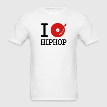 I dj / play / listen to hiphop - Men's T-Shirt