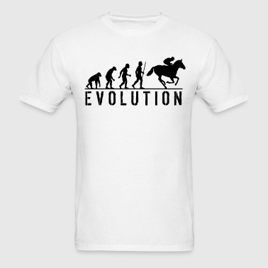 Evolution Horse Racing Jockey - Men's T-Shirt