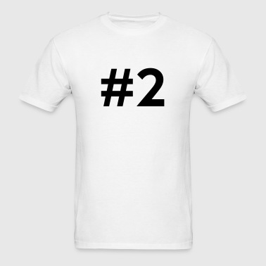#2 (number two) - Men's T-Shirt