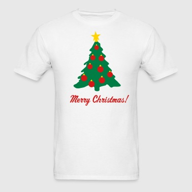 Christmas Tree and Decorations - Men's T-Shirt