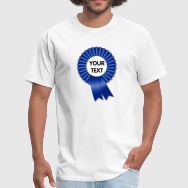Template Design Blue Rosette and Ribbon Template - Men's T-Shirt