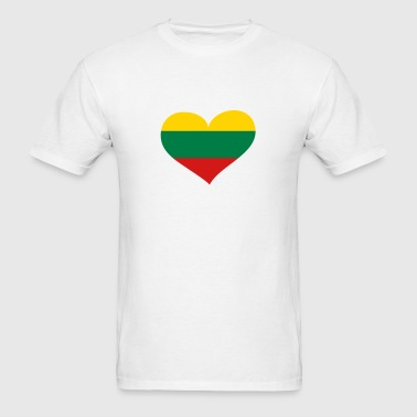 Lithuania Heart; Love Lithuania - Men's T-Shirt