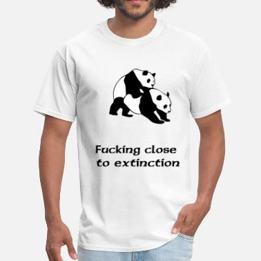 Pandas Filthy fucking close to extinction - Men's T-Shirt