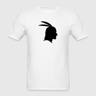 Native Indian Head Silhouette - Men's T-Shirt