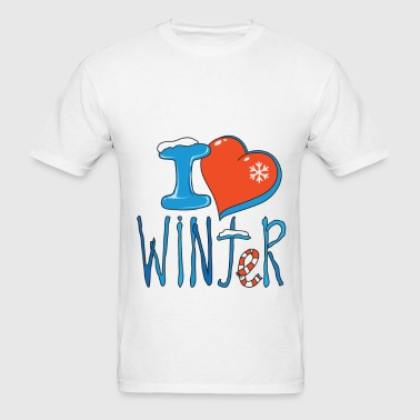 I love winter - Men's T-Shirt