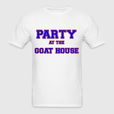 party_at_the_goat_house_blue - Men's T-Shirt