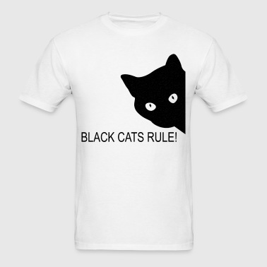 Black cats rule - Men's T-Shirt