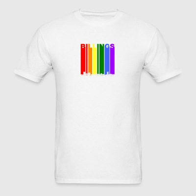 Billings Montana Skyline Rainbow LGBT Gay Pride - Men's T-Shirt