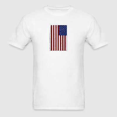 USA Flag (Distressed) - Men's T-Shirt