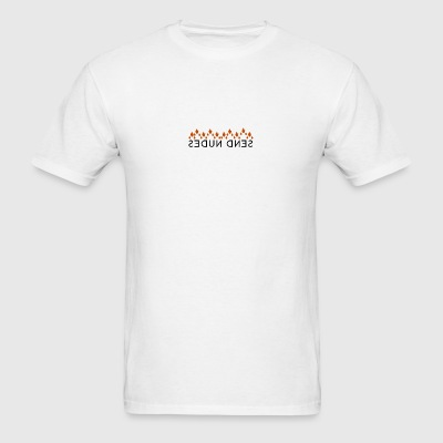 SEND NUDES T-Shirt Hidden Message - Men's T-Shirt
