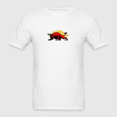 red_angry_fire_bull - Men's T-Shirt