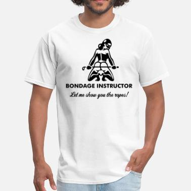Bondage Symbols Bondage Instructor - Men's T-Shirt