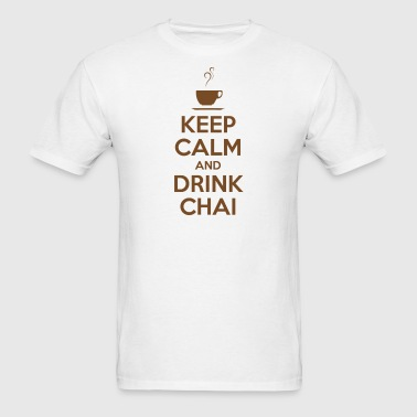 KEEP CALM AND DRINK CHAI (brown) - Men's T-Shirt