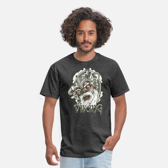 Middle Ages T-Shirts - Viking - Men's T-Shirt heather black