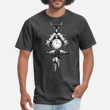 Germany black forest traditional cuckoo clock - Men's T-Shirt