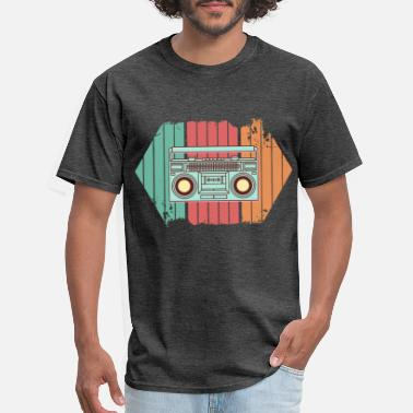 Vintage Rnb Retro Radio Colorful Music Gift Idea Vintage Style - Men's T-Shirt