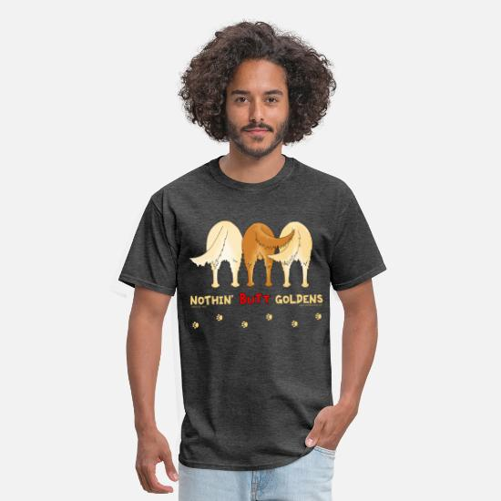 Retriever T-Shirts - Nothin' Butt Goldens T-shirt - Men's T-Shirt heather black