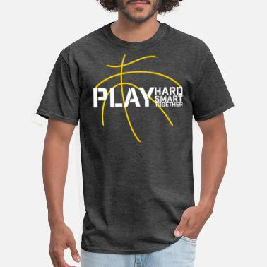 Motto basketball team play hard smart together logo - Men's T-Shirt