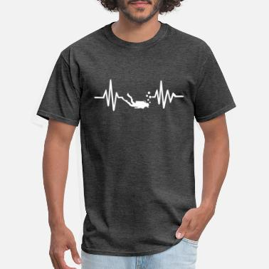 Diving Heartbeat Diving - Men's T-Shirt