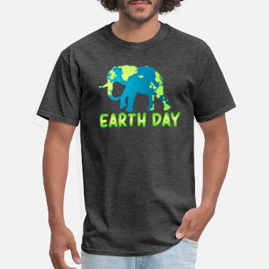 Earth Day earth day 2019 kids with Elephant - Men's T-Shirt