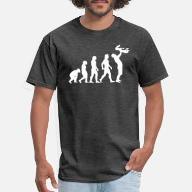 Evolution Dad with Girl - Men's T-Shirt
