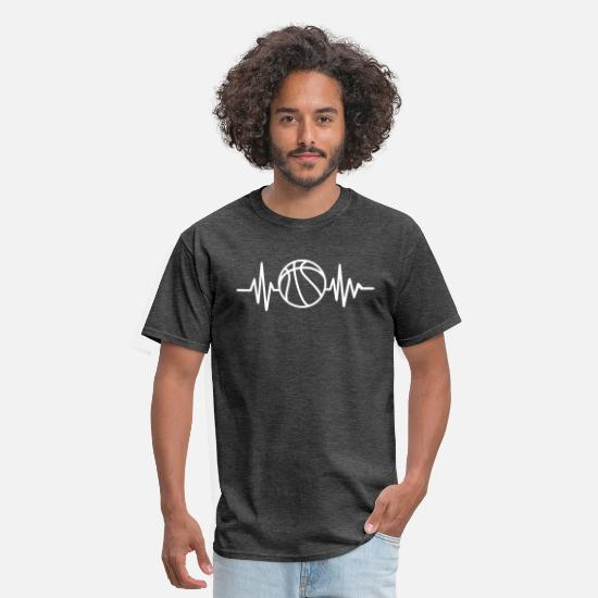 Basketball T-Shirts - Basketball - Men's T-Shirt heather black