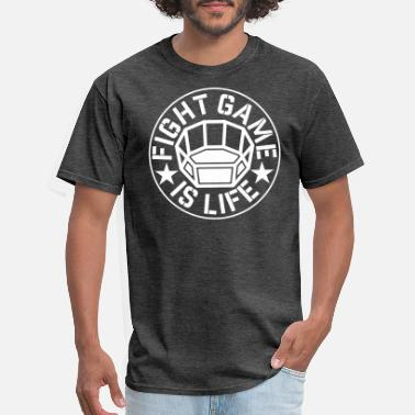Octagon FIGHT game is LIFE mma - Men's T-Shirt