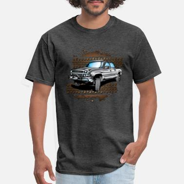 Chevy Grey Muddy Chevy Truck - Men's T-Shirt