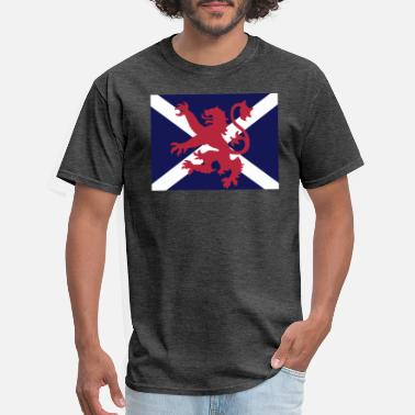 Scottish Scottish Flag Lion & Saltire - Men's T-Shirt