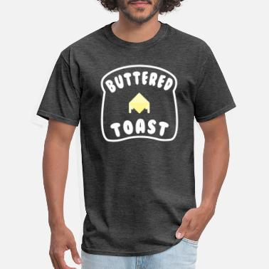 Cartoon Toast Buttered Toast - Men's T-Shirt