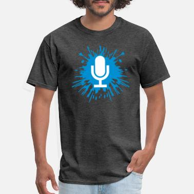 Headset Drop microphone icon - Men's T-Shirt
