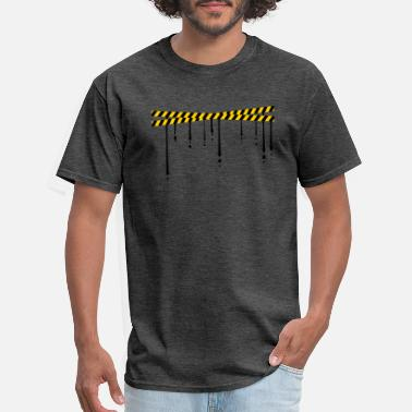 Barrier Tape Drop security tape - Men's T-Shirt