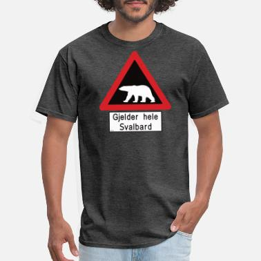 Svalbard Svalbard Polar Bear Sign - Gjelder hele Svalbard - Men's T-Shirt
