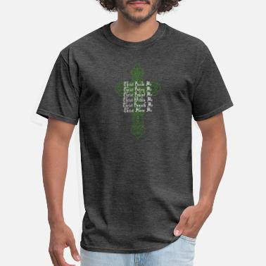 Day Of Prayer And Repentance St Patrick'S Day Celtic Cross Prayer Christian Att - Men's T-Shirt