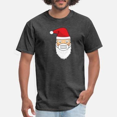 Santa Claus with face mask - Men's T-Shirt