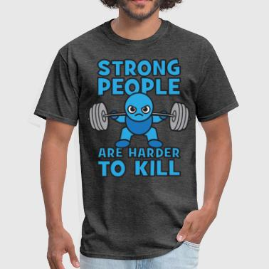 Squat Strong Man Strong People Are Harder To Kill- Kawaii Squat - Men's T-Shirt