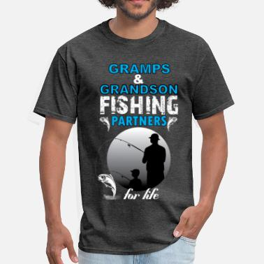Fishing Partner Gramps & Grandson Fishing Partners For Life - Men's T-Shirt