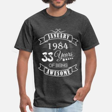 Marth January 1984 33 years of being awesome - Men's T-Shirt