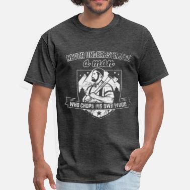 Paul Bunyan wood chopper - Men's T-Shirt