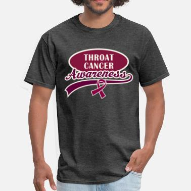 Throat Cancer Throat Cancer Awareness Ribbon - Men's T-Shirt
